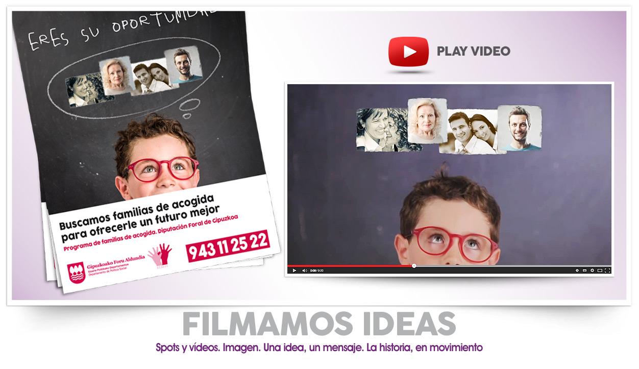 Realización de spot, anuncios de televisión. Campañas de publicidad en Donostia-San Sebastián, Irun. Gipuzkoa