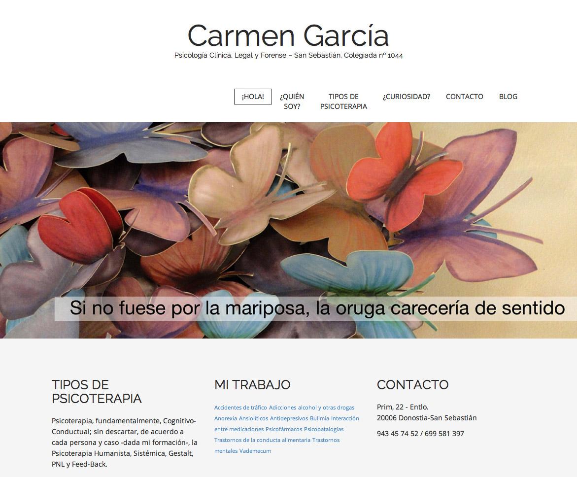 Diseño de página web para una psicóloga de Donostia-San Sebastián, Gipuzkoa